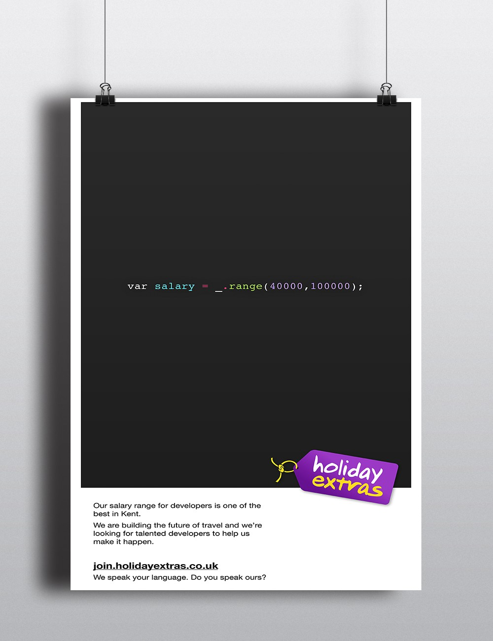 Holiday Extras Recruitment Advertising